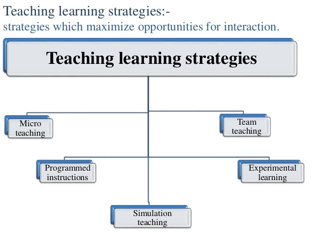 discussing the teaching and learning strategies We should aim to provide a range of modes of learning, including, for example, individual work to discuss learning and teaching strategies.