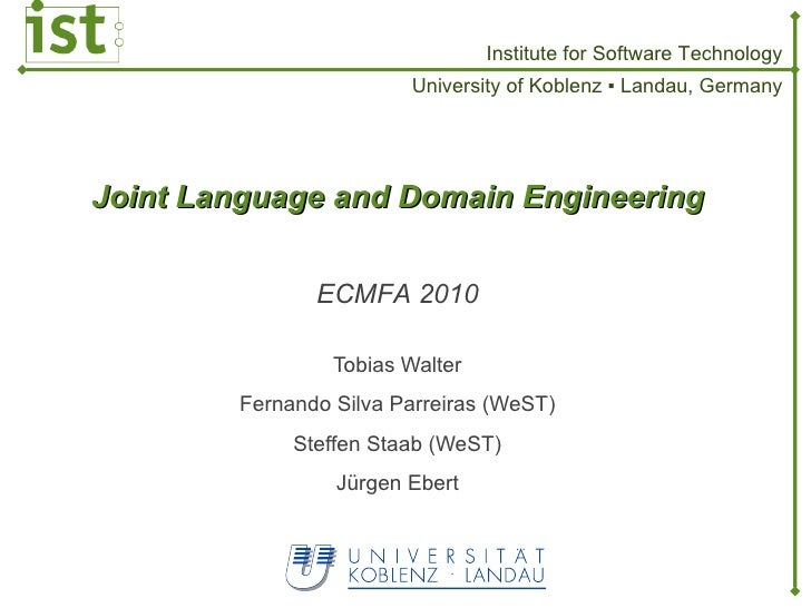 Joint Language and Domain Engineering