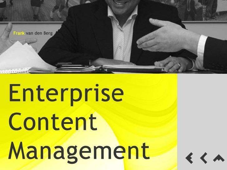 Enterprise Content Management - Intro