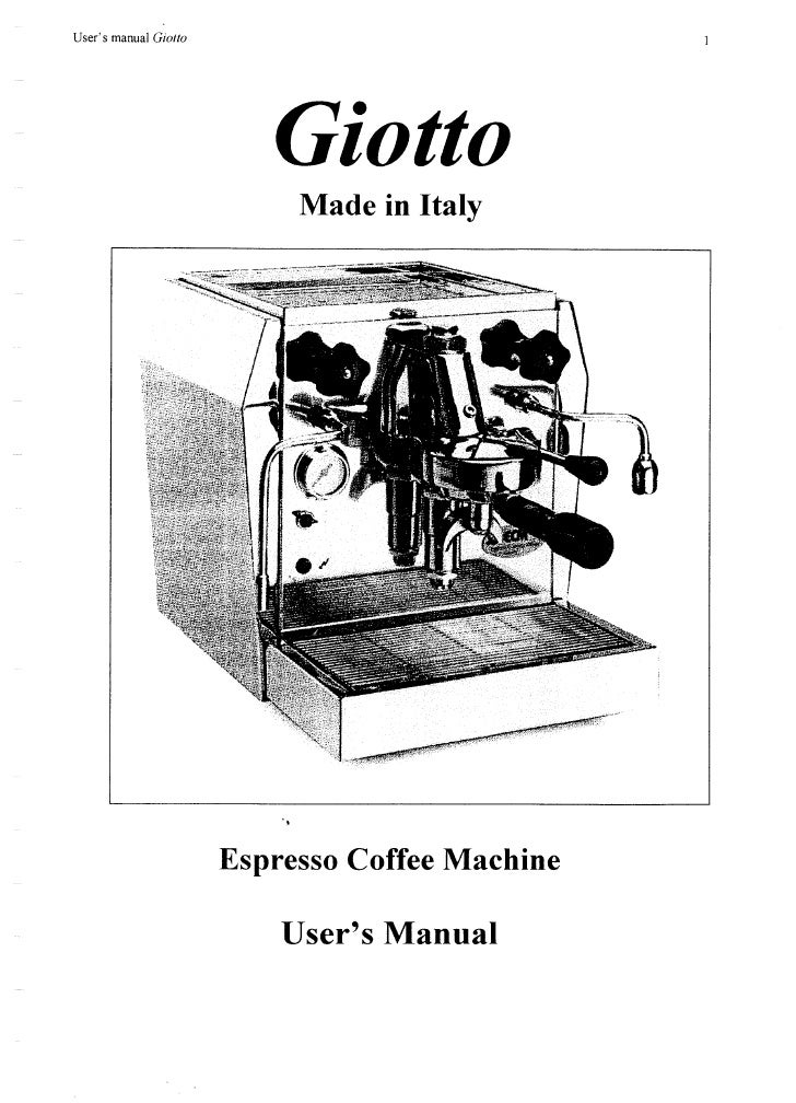 Ecm giotto user manual