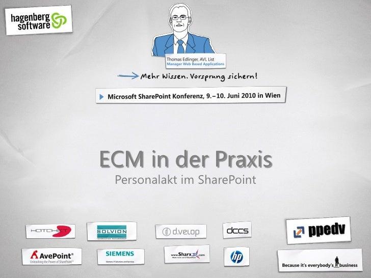 ECM in der Praxis  Personalakt im SharePoint