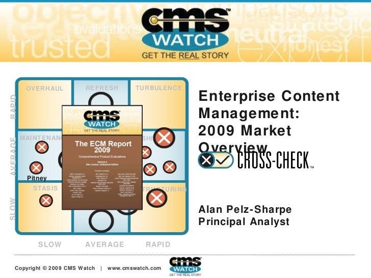 Enterprise Content Management:  2009 Market Overview Alan Pelz-Sharpe Jarrod Gingras SLOW AVERAGE RAPID SLOW AVERAGE RAPID...