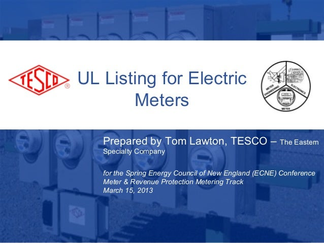 UL Listing for Electric Meters