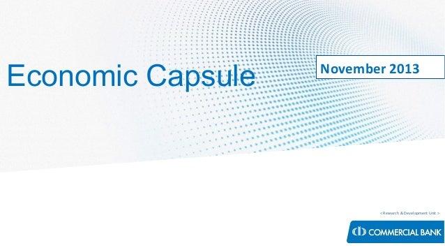 Economic Capsule - November 2013