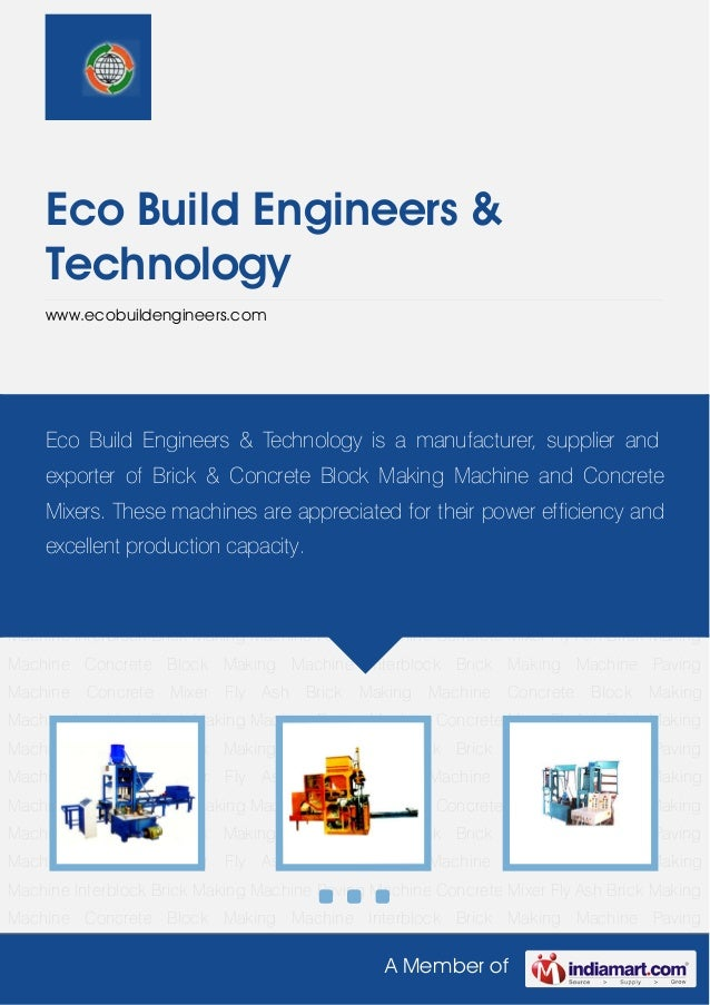 Concrete Block Making Machine by Eco build engineers technology