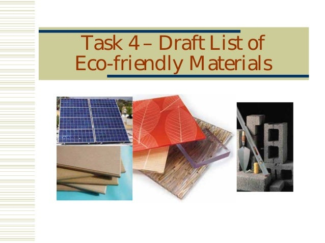Eco friendly building materials for Eco building supplies