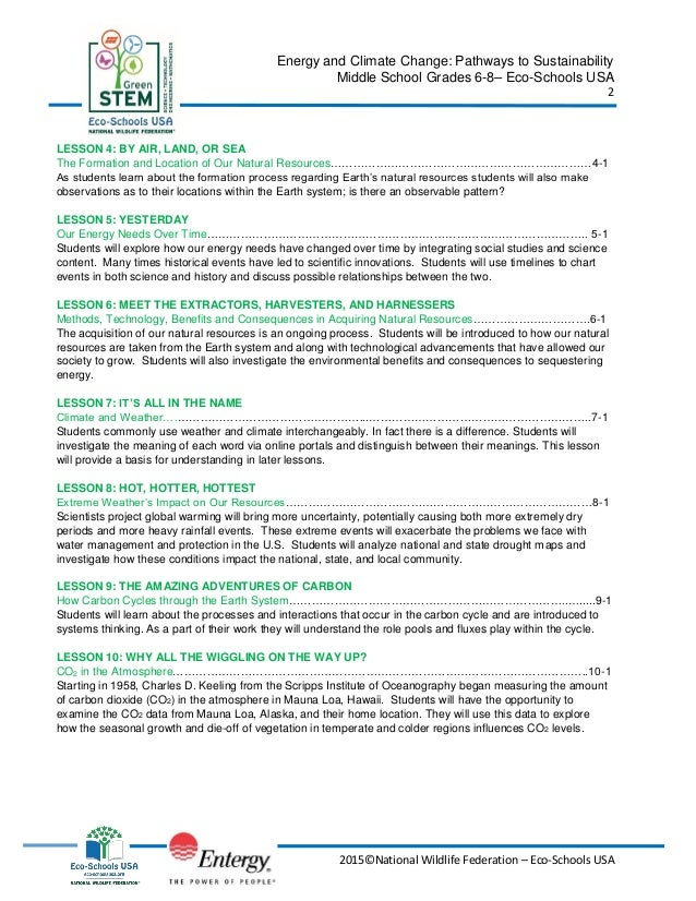 Carbon cycle worksheet middle school