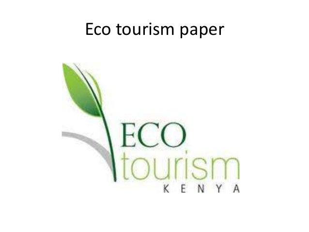 Eco tourism project paper