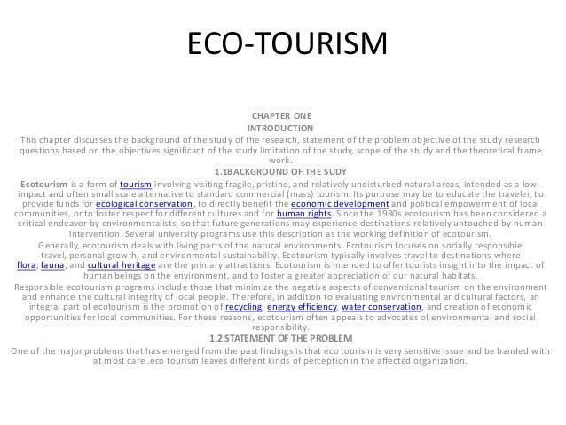 Ecotourism essay conclusion template