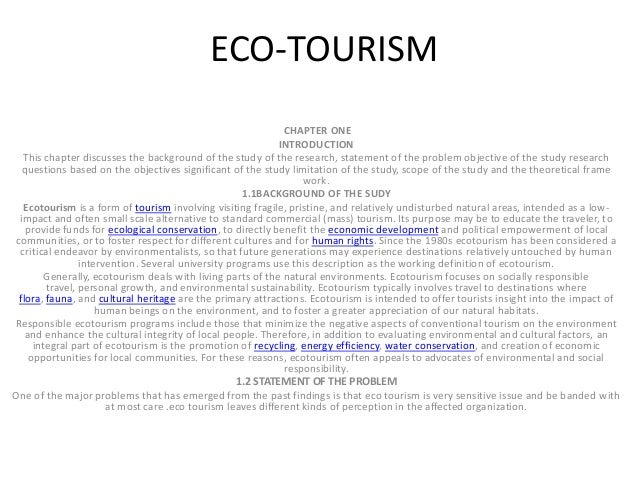 Essay on ecotourism