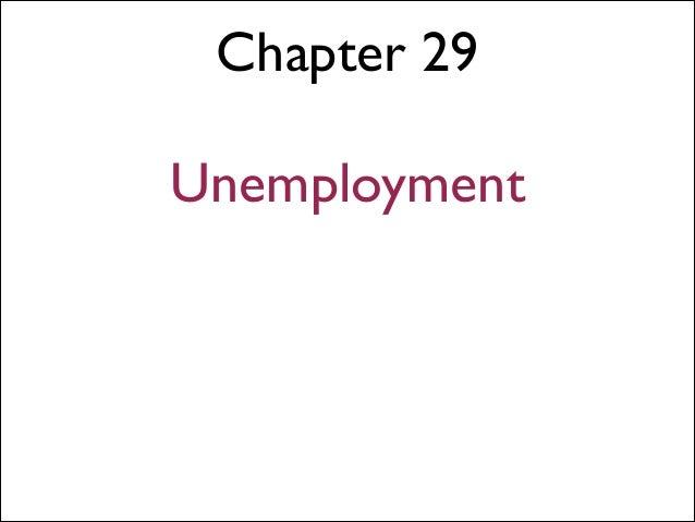 Chapter 29 ! Unemployment