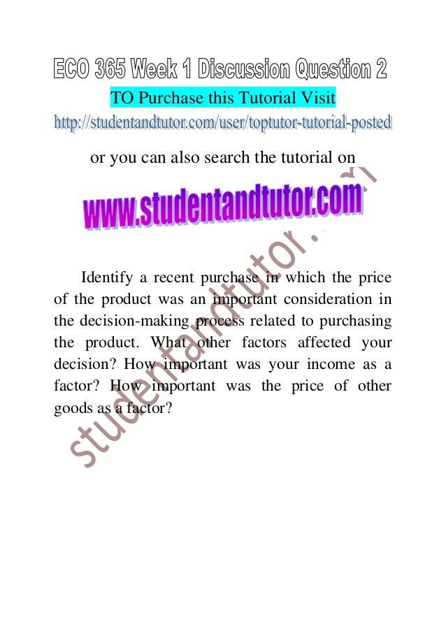 discussion questions week 1 economics 365