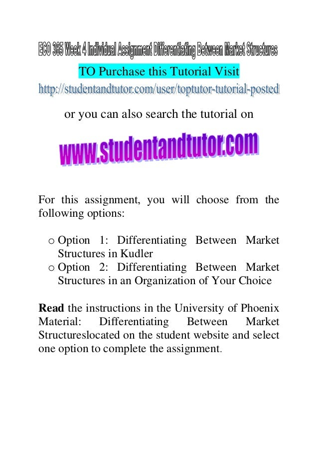 Essay types market structure