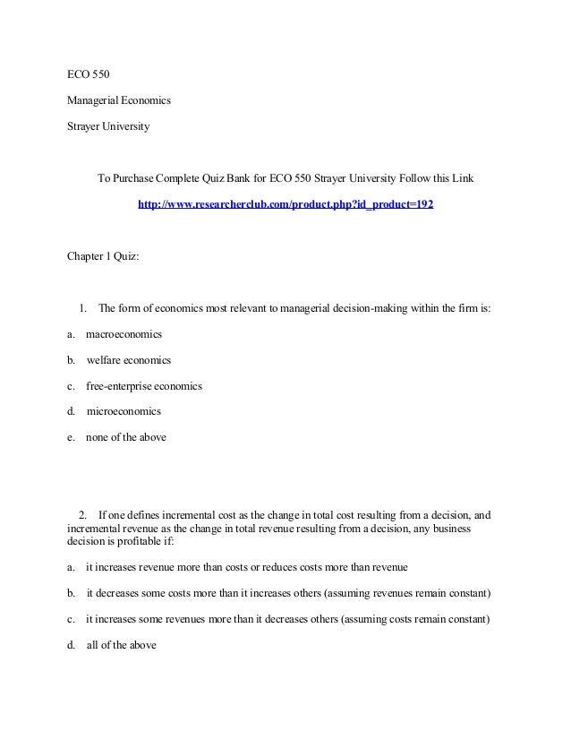 eco 550 final exam part 1