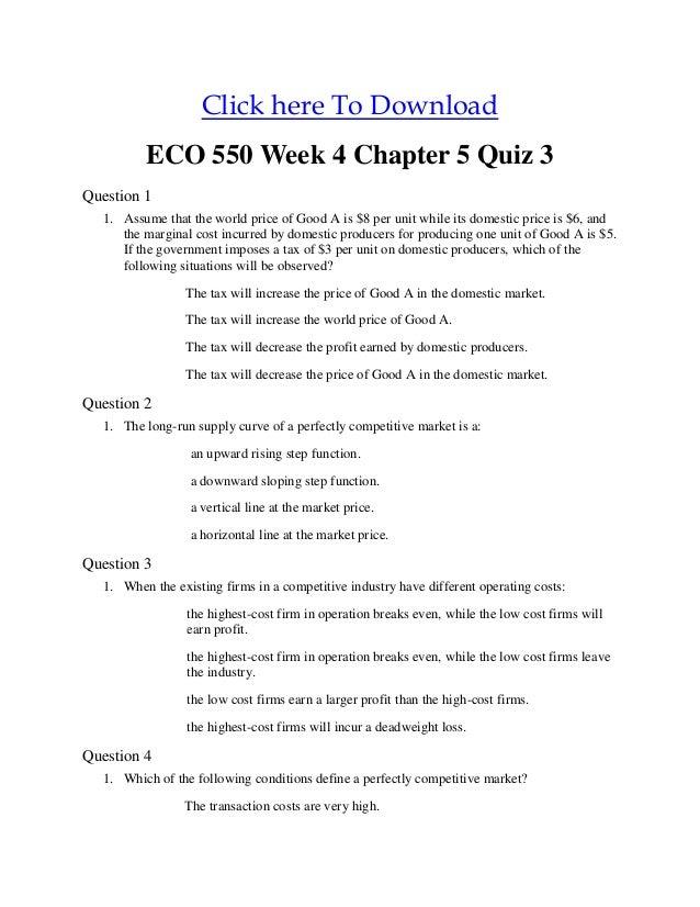 eco 550 quiz
