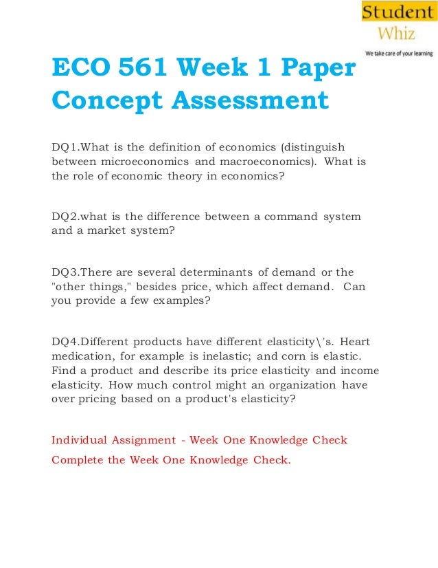 eco 561 week 3 Learn economic concepts with assignmentehelp's eco 561 final exam get  answer key free, questions and answers for eco 372 final exam, university of  phoenix.