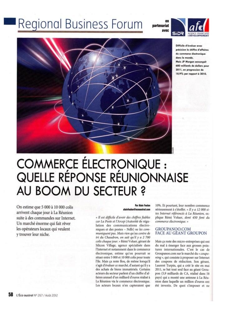 Commerce électronique : quelle réponse réunionnaise au boom du secteur ?