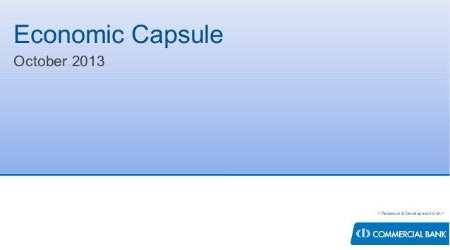 Economic Capsule - October 2013