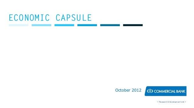 Economic Capsule - October 2012