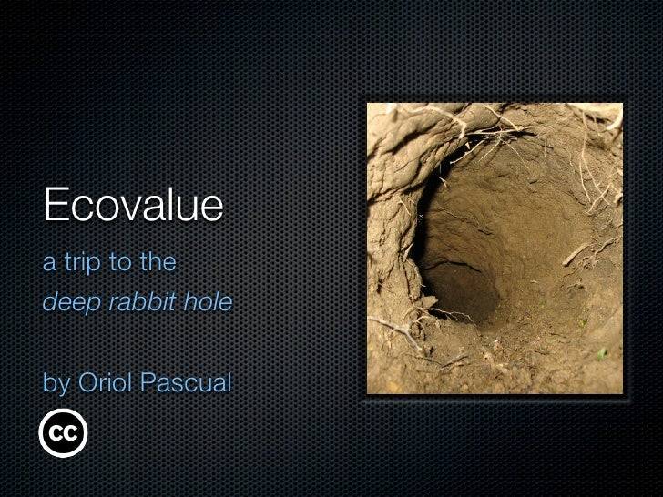Ecovalue a trip to the deep rabbit hole   by Oriol Pascual