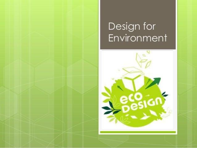 Eco design   dfe