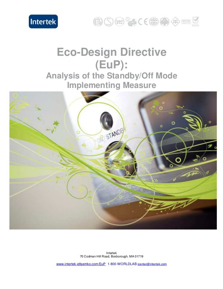 Eco-Design Directive        (EuP):Analysis of the Standby/Off Mode     Implementing Measure                               ...