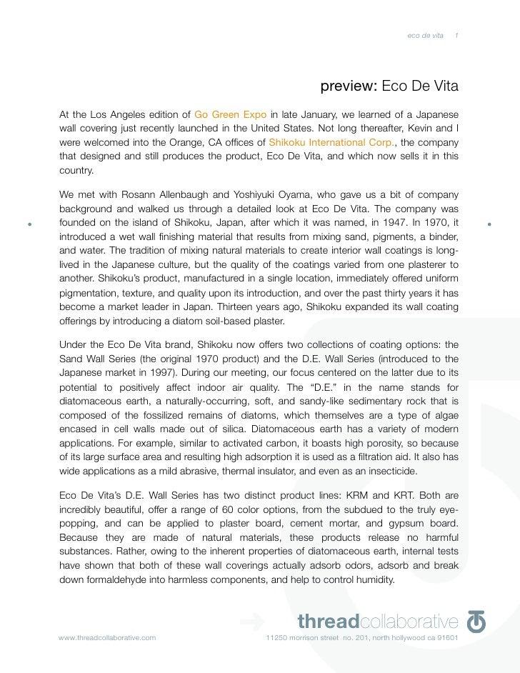 preview: Eco De Vita