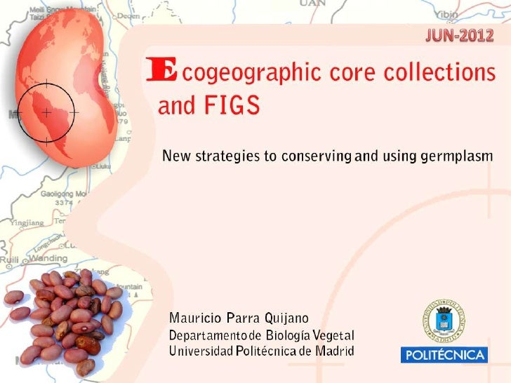 Ecogeographic core collections and FIGS