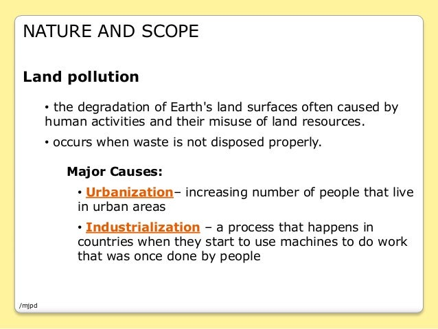 information about pollution