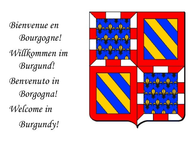 Bienvenue en Bourgogne! Willkommen im Burgund! Benvenuto in Borgogna! Welcome in Burgundy!