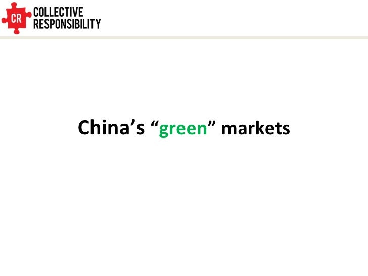 LOHAS and Green Consumers in China