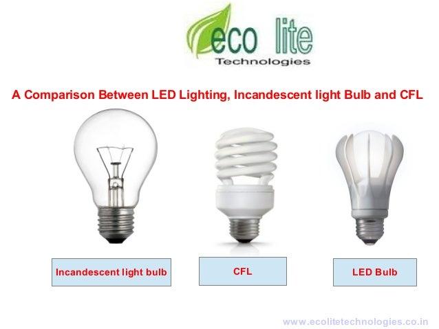 a comparison between led lighting incandescent light bulb. Black Bedroom Furniture Sets. Home Design Ideas