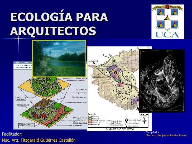 EcologíA Para Arquitectos1v2009