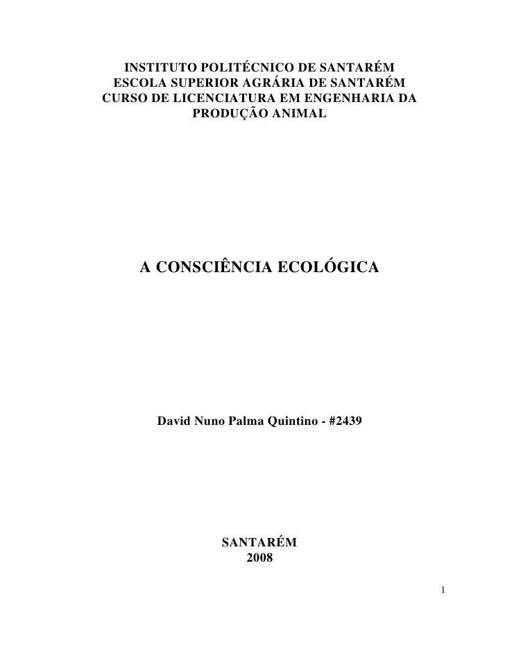 INSTITUTO POLITÉCNICO DE SANTARÉM  ESCOLA SUPERIOR AGRÁRIA DE SANTARÉM CURSO DE LICENCIATURA EM ENGENHARIA DA             ...