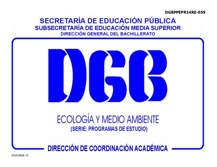 Programa de Ecologia Y Medio Ambiente