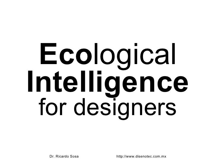 Ecological Intelligence for Designers