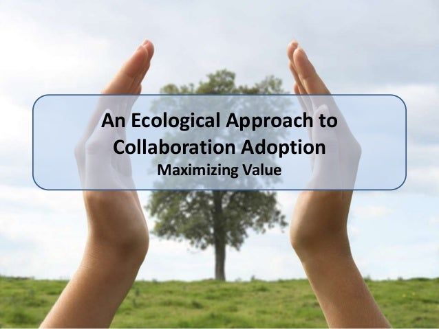 An Ecological Approach to Collaboration Adoption     Maximizing Value