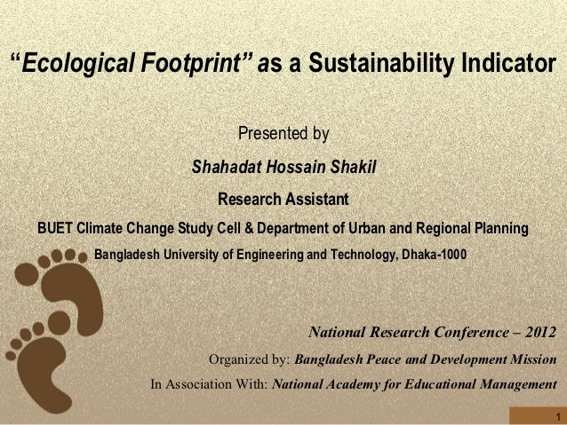 Ecological Footprint as a Sustainability Indicator
