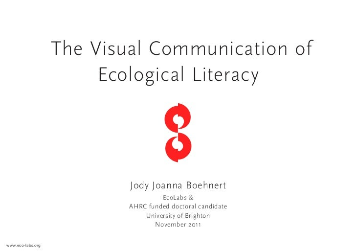 The Visual Communication of Ecological Literacy - PhD Presentation, November 2011