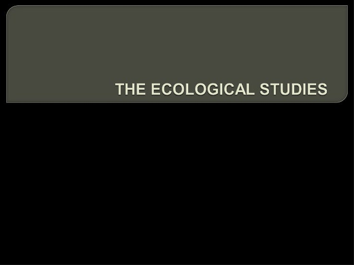 how to conduct an ecological study