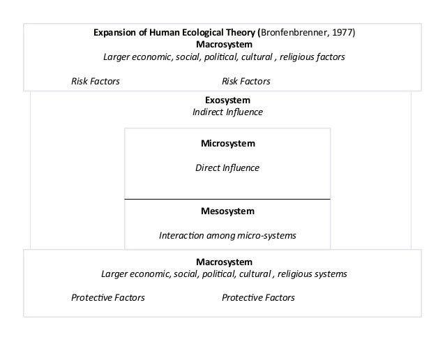 !                    Expansion)of)Human)Ecological)Theory)(Bronfenbrenner,!1977)))                                        ...