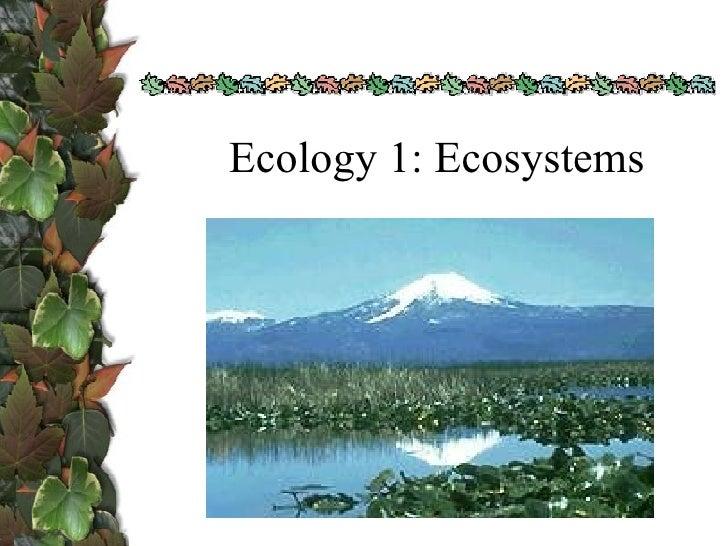 Ecology 1: Ecosystems