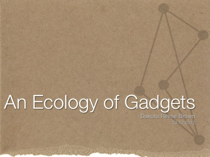 Ecology of Gadgets - Mobile March 2012
