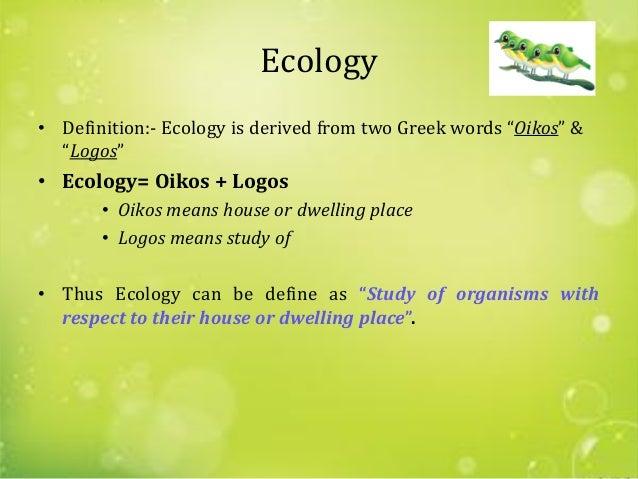 Ecology & Ecosystems