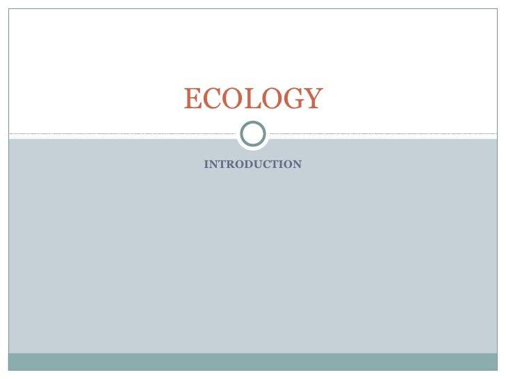 Ecology intro