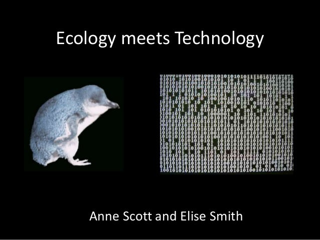 Ecology meets Technology Anne Scott and Elise Smith
