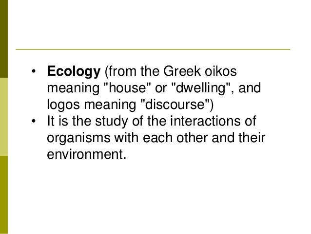Image Gallery ecology meaning