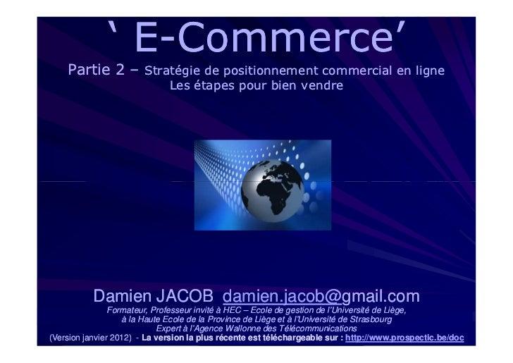 Cours 'e-Commerce' - partie 2