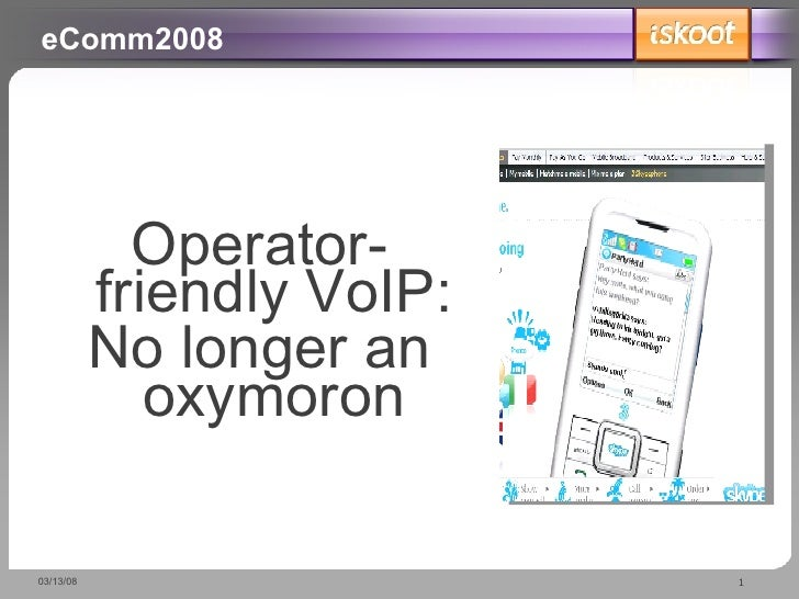 iSkoot eComm 2008 Presentation
