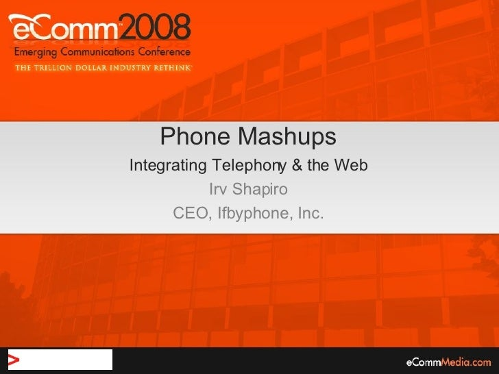 Irv Shapario's Boaz Zilberman's presentation at eComm 2008